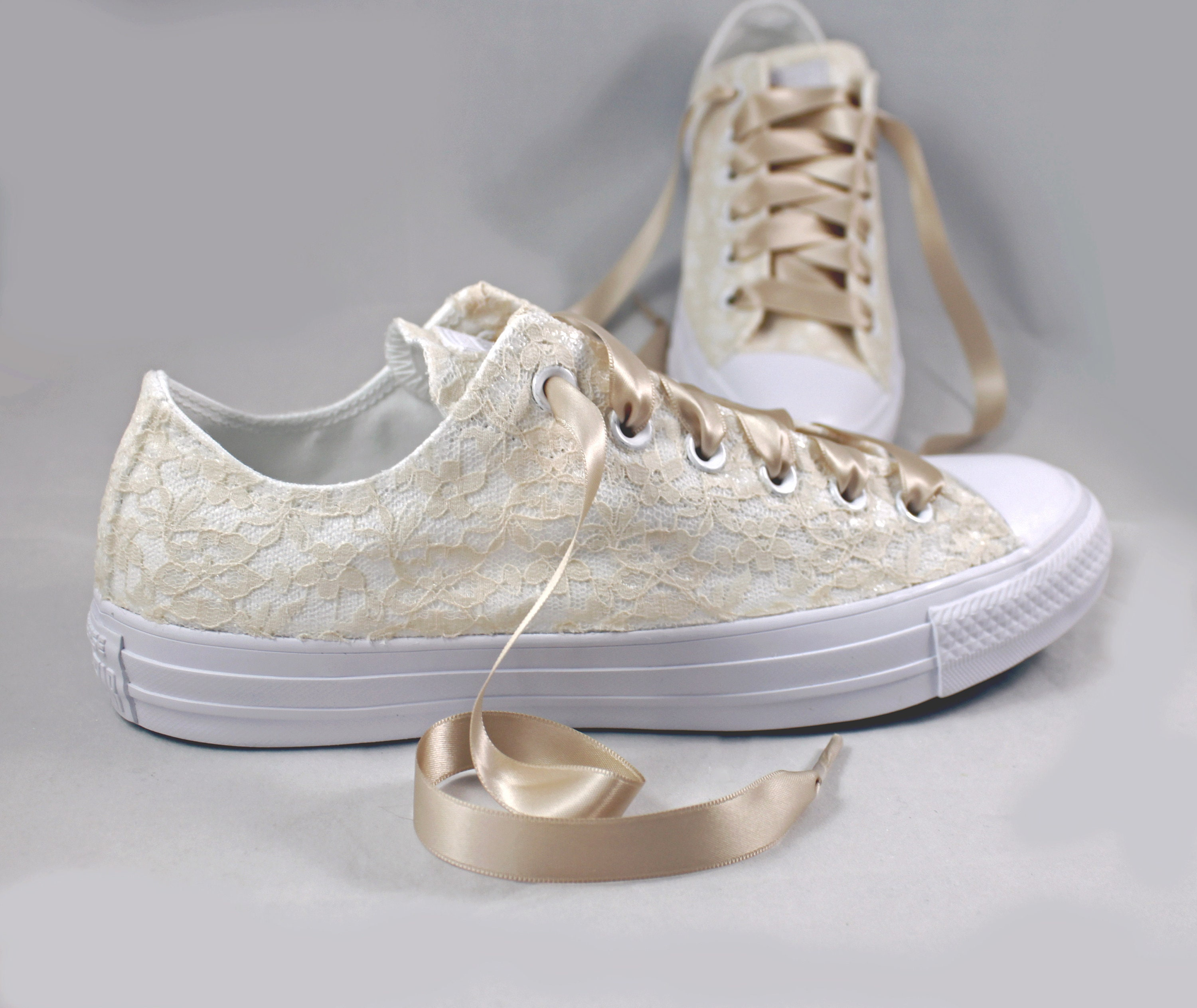 Champagne bridal converses monochrome lace converse wedding tennis shoes  wedding converse jpg 3000x2526 Champagne converse shoes 84febb7e5