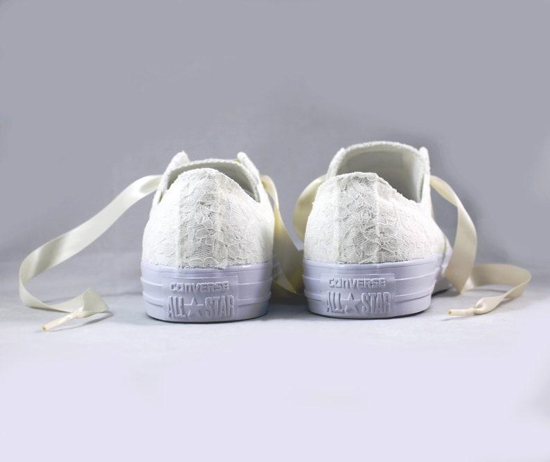 9d02de6d1c35 Ivory Lace Bridal Converses Ivory Lace Converse Wedding