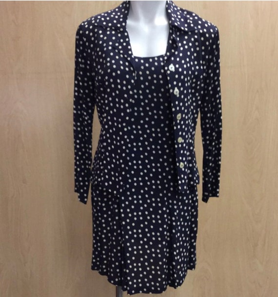 Vintage 90's Betsey Johnson dress and shirt L