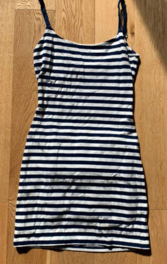 Betsey Johnson striped bustle dress,L