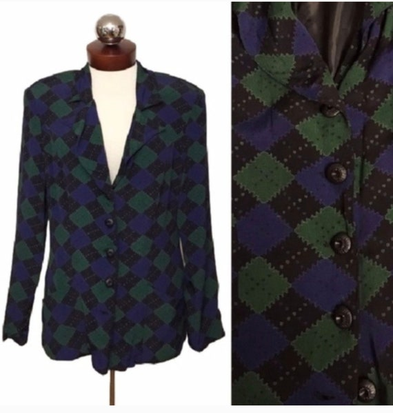 Vintage Betsey Johnson Argyle Jacket