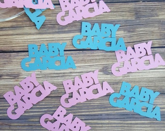 PERSONALIZED Gender Reveal Party Baby Shower Team Pink Team Blue Confetti - Scrapbooking