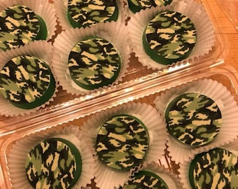 Chocolate Covered Oreos 1 dozen - CAMO Camouflage Army Military
