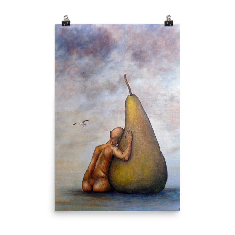 Poster print from my original painting title No body is image 0