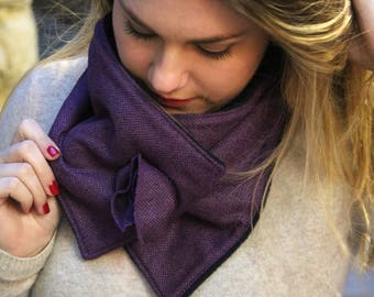 Gift for her, cashmere wool scarf, purple scarf, wool scarf, womens winter scarf, womens scarf, fashion snood, trendy scarf, neckwarmer,