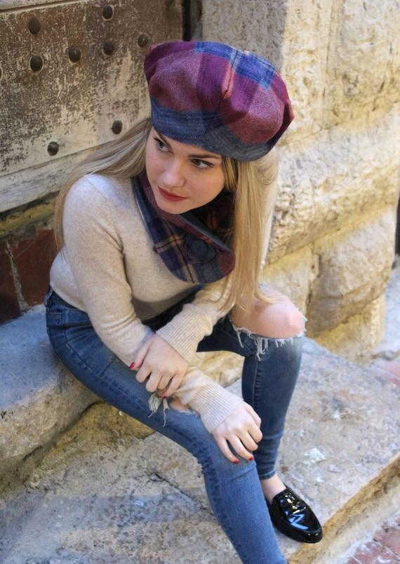Laine écharpe et chapeau chapeau de femmes français combo de   Etsy b1d0c9daeb8