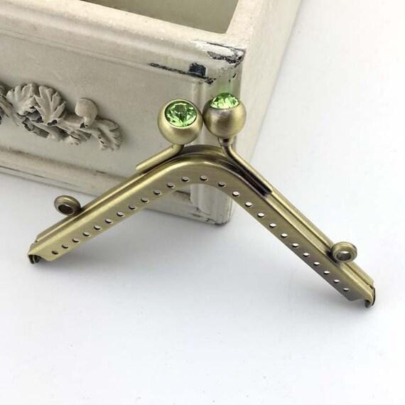 11cm4.33inch antique bronze purse frame metal bag frame | Etsy