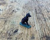 Vintage German Metal quot Putz quot Toy Miniature Dog Antique German Christmas