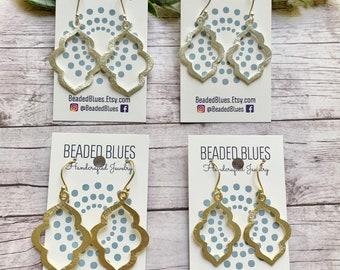 Quatrafoil Clover Connector Earrings Quatrafoil Clover Tassel Earrings Tassel Earrings Large Tassel Earrings Silk Tassel Earrings