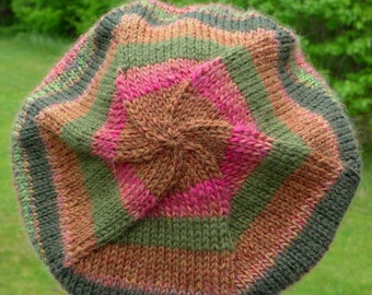 classic woman's beret , multicolored