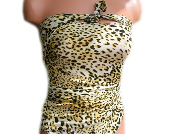 Cheetah Bathing Suit Etsy