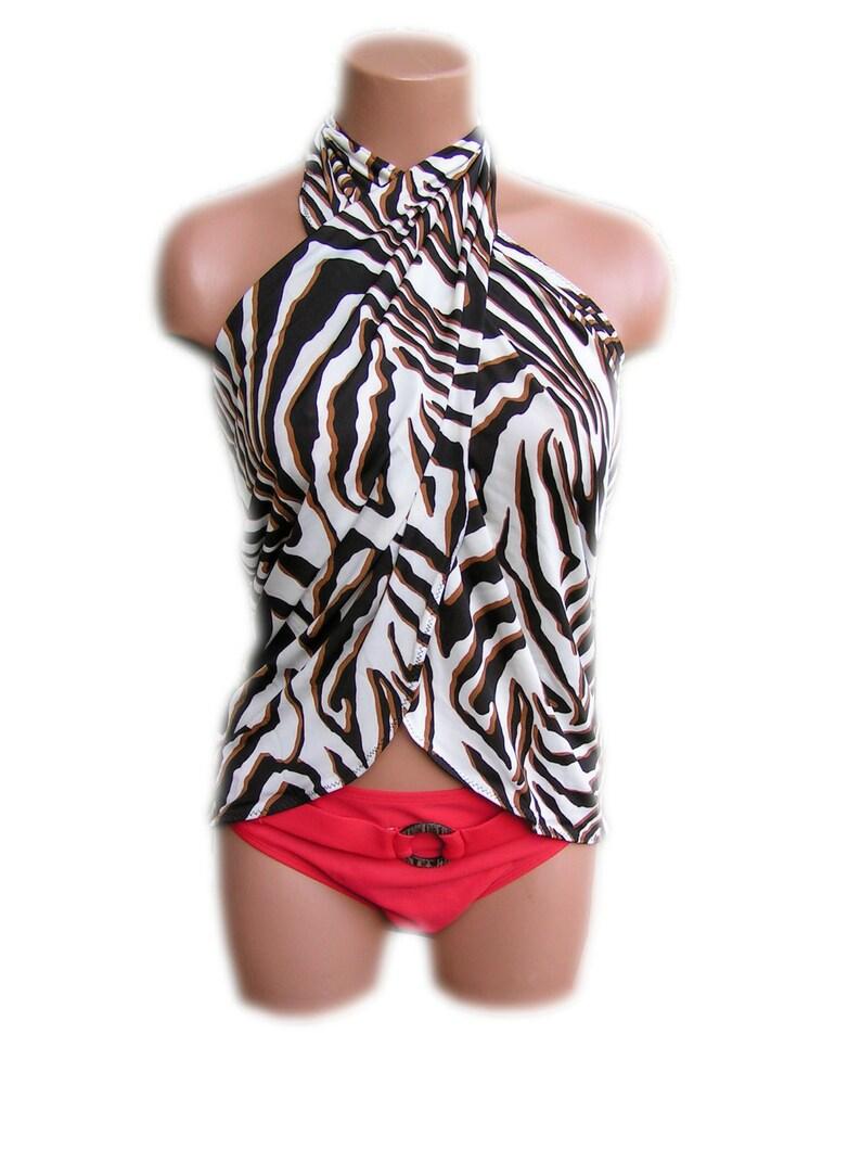 98d6c73946b26 Sarong Beach Cover Up Zebra Animal Print Scarf Shawl Womens | Etsy