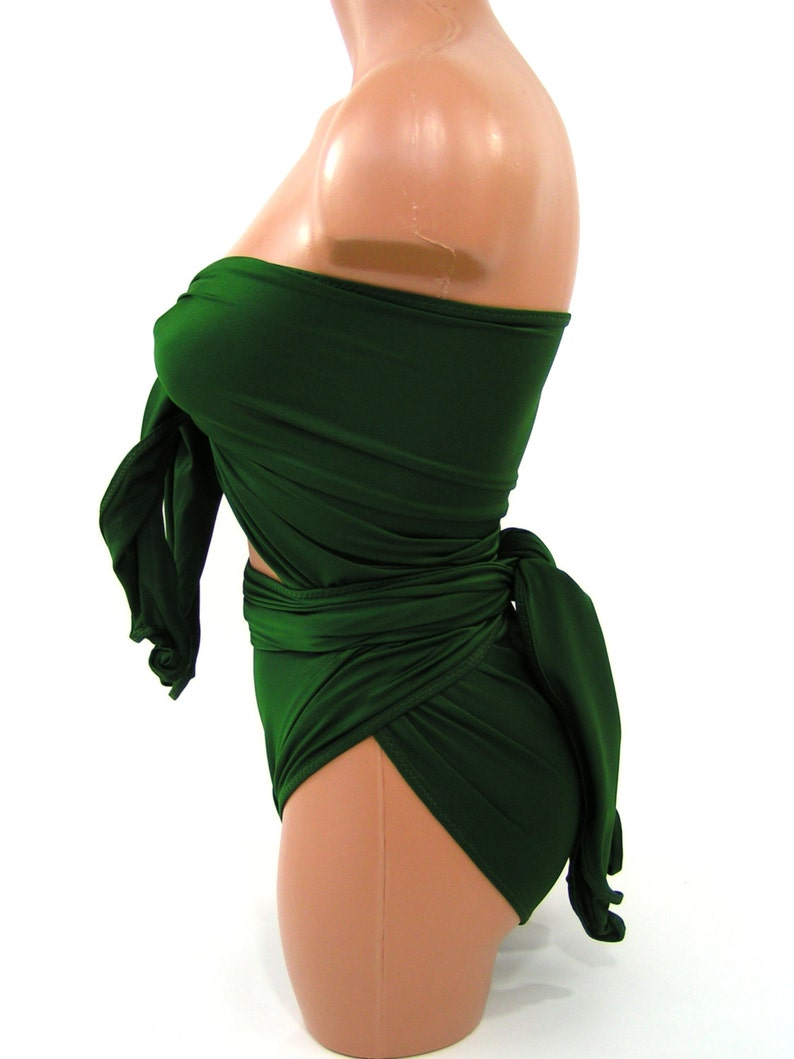 f16cdeaa31b1d Extra Large Bathing Suit Wrap Around Swimsuit Hunter Green
