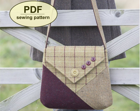 New: Sewing pattern to make the Marsham Messenger Bag - PDF pattern INSTANT DOWNLOAD
