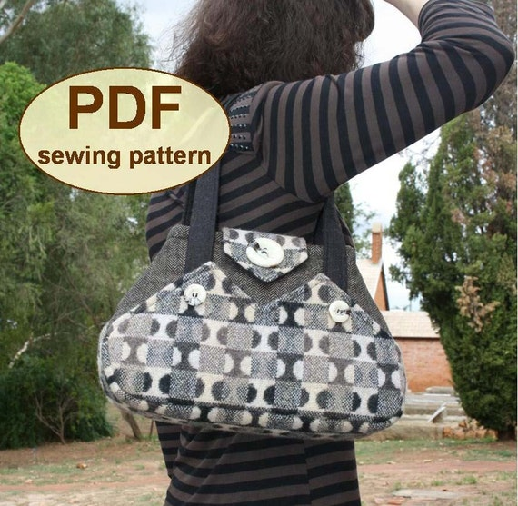 Sewing pattern to make the Exchange Bag - PDF pattern INSTANT DOWNLOAD