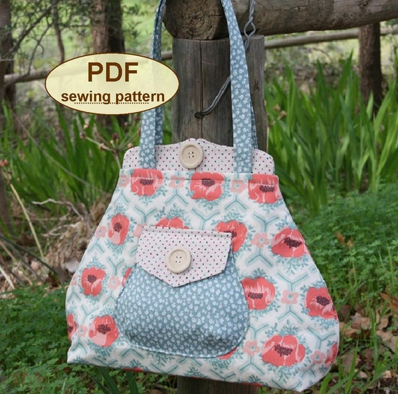 Sewing pattern to make the Premium Bond Bag - PDF pattern INSTANT DOWNLOAD