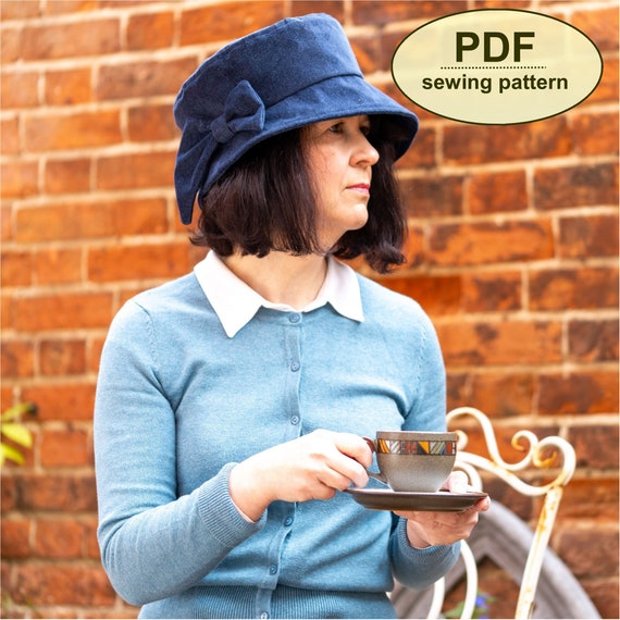 New: Sewing pattern to make the Paston Cloche Hat - PDF pattern INSTANT DOWNLOAD - three sizes included