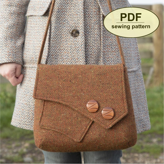 New: Sewing pattern to make the Gunton Messenger Bag - PDF pattern INSTANT DOWNLOAD