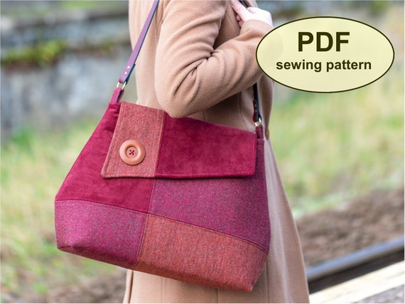New: Sewing pattern to make the Brockford Bag - PDF pattern INSTANT DOWNLOAD