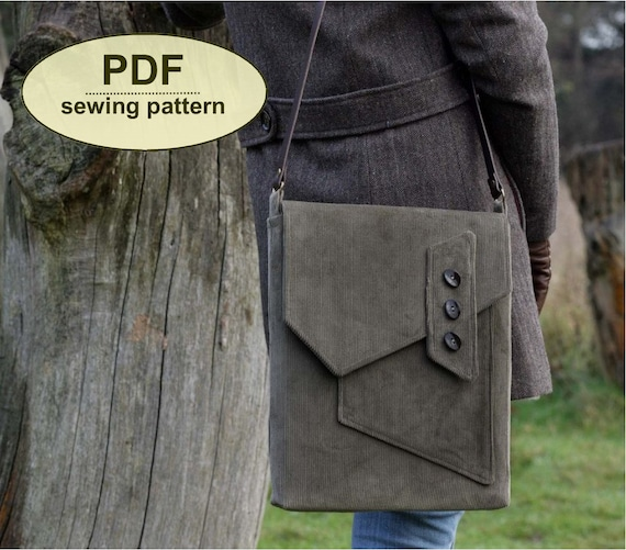 NEW Sewing pattern to make the Morston Quay Messenger Bag - PDF pattern INSTANT download messenger style bag