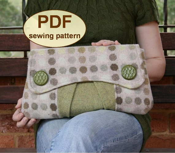 Sewing pattern to make the Casablanca Clutch Bag - PDF pattern INSTANT DOWNLOAD