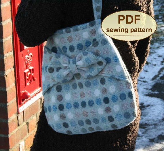 Village Post Bag PDF sewing pattern INSTANT DOWNLOAD