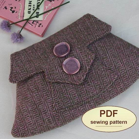 Sewing pattern to make the Home Guard Clutch Bag - PDF pattern INSTANT DOWNLOAD