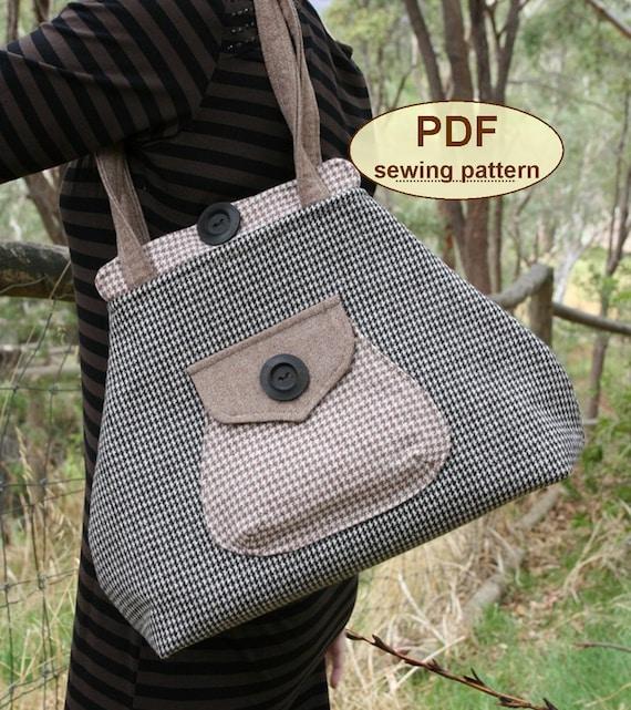 Sewing pattern to make the Premium Bond Bag - PDF sewing INSTANT DOWNLOAD