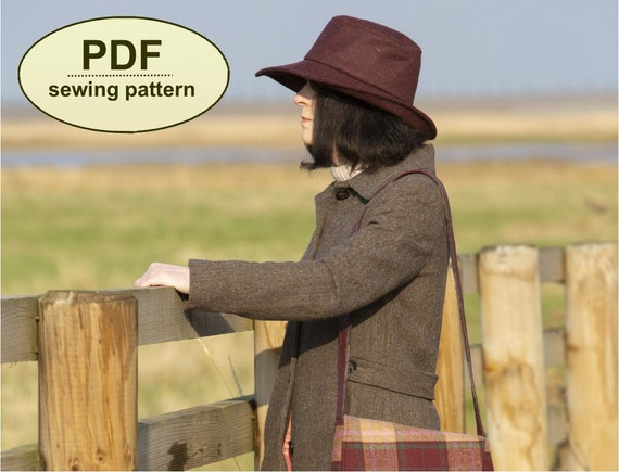 New: Sewing pattern to make the Hainford Hat - PDF pattern INSTANT DOWNLOAD - one size included