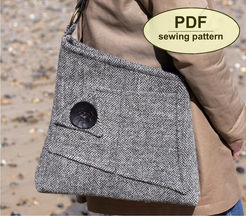 New: Sewing pattern to make the Salthouse Bag  PDF pattern image 0