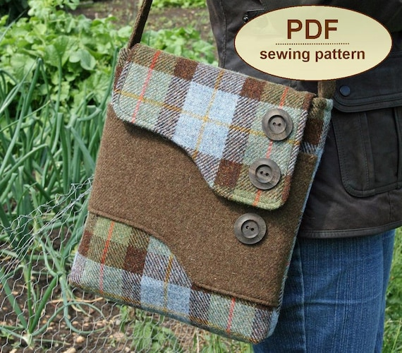 Sewing pattern to make the Melford Messenger Bag - PDF pattern INSTANT DOWNLOAD