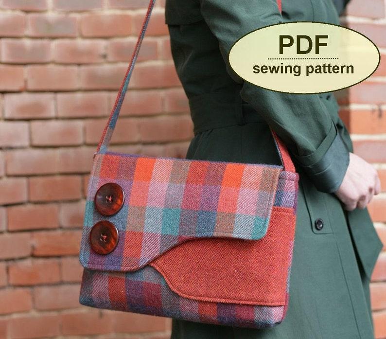 New: Sewing pattern to make the Brancaster Messenger Bag  PDF image 0