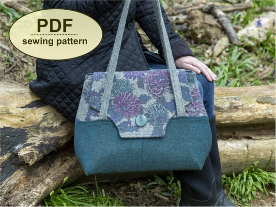 New: Sewing pattern to make the Colne Valley Bag - PDF pattern INSTANT DOWNLOAD