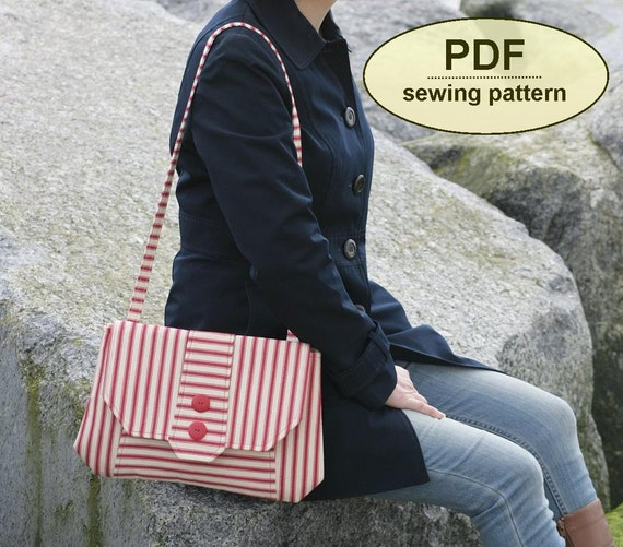 New: Sewing pattern to make the Chattisham Clutch Bag - PDF pattern INSTANT DOWNLOAD