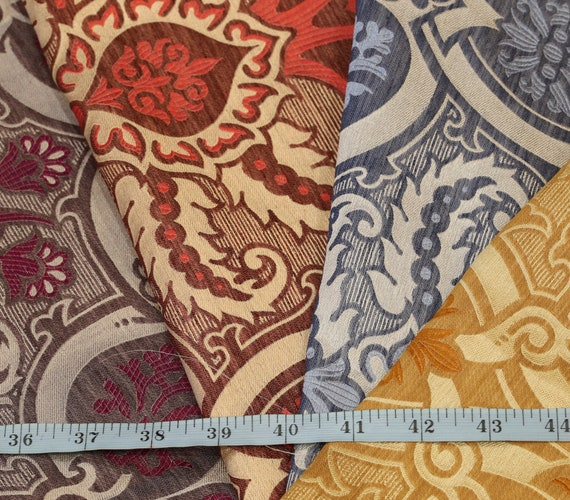 "A one-off stunning English woven silk fabric sampler length in a mix of colours, measuring 28"" x 47"" in a medium weight"