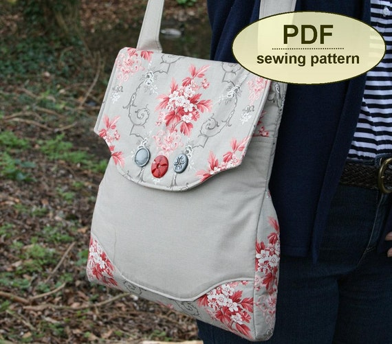 Messenger bag sewing pattern, Rural Correspondent Bag, PDF pattern, purse pattern, INSTANT DOWNLOAD