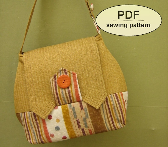 Sewing pattern to make the Home Front Bag - PDF pattern INSTANT DOWNLOAD