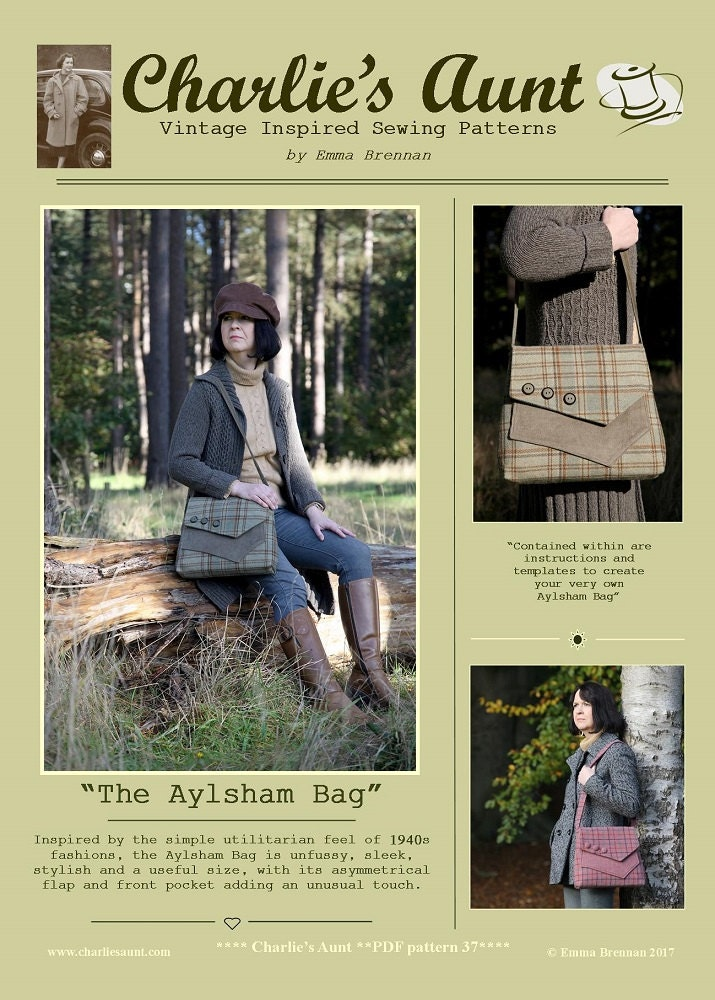 New: Sewing pattern to make the Aylsham Bag - PDF pattern INSTANT ...