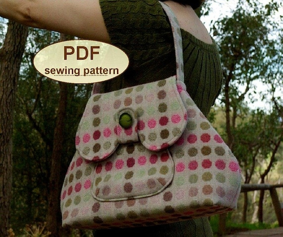 Sewing pattern to make the Anglia Bag - PDF pattern INSTANT DOWNLOAD