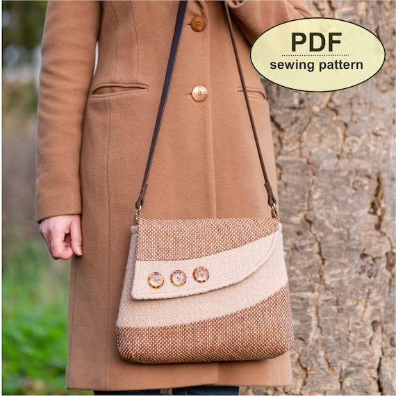 New: Sewing pattern to make the Bircham Bag - PDF pattern INSTANT DOWNLOAD