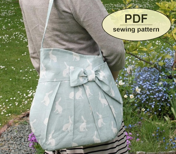 New: Sewing pattern to make the Brief Encounter Bag - PDF pattern INSTANT DOWNLOAD