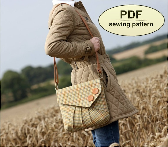 New: Sewing pattern to make the Reepham Messenger Bag - PDF pattern INSTANT DOWNLOAD