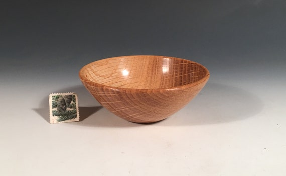 Ring Coin Candy Keys Dish Hand Turned Wood Bowl 14004 Spalted White Oak Burl G+