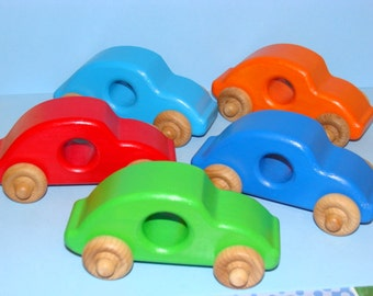 Little Beetles - Wooden BABY Toy Cars ( Set of 5 )
