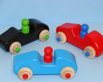 Little Racers Special Edition -  Wooden Toy Cars (Set of 3) - a great gift idea