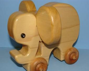 Wooden Elephant on the Go
