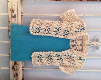 Classically Carmen Crochet Pattern Instant Download Cardi Size XS-XXL Seamless Sweater Bolero Shrug Women or Teens