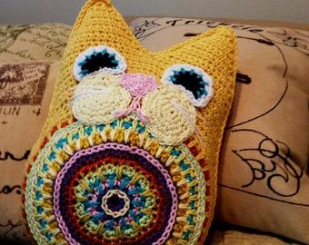 Fat Cat Pillow PDF Crochet Pattern Instant Download Toy Babies Children Boys Girls Plush Softee