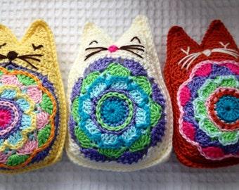 Karmic Kitty Instant Download Crochet Pattern Mascot Featured in World Amigurumi Art Exhibit PP-425602