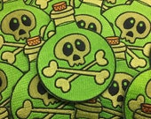 """Poison Potion Bottle - 4"""" embroidered patch - sew on patch"""